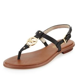 Michael Kors Sondra Logo Thong Sandals Black
